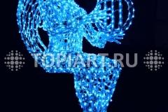 """Светодиодная скульптура """"Рождественский Ангел"""""""