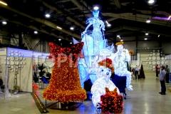 Светящиеся скульптуры TOPiART на выставке в Ленэкспо. Санкт-Петербург 2013г