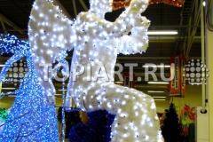 """Новогоднее украшение фасадов светящаяся фигура """"Ангел Рождественский"""""""
