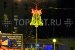 """Новогоднее оформление улиц. Украшение опор освещения """"Колокольчик"""""""
