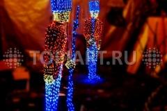 """Светящиеся фигуры """"Солдаты"""" элемент уличного новогоднего оформления"""