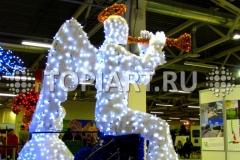 """Новогоднее украшение торговых центров. Светодиодная фигура """"Ангел""""."""