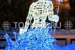 """Светящиеся скульптуры """"Снежный король"""" ."""