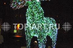"""Зеленая фигура """"Лось"""" с Led подсветкой"""