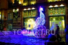 """Новогоднее оформление Санкт-Петербурга. Светящаяся новогодняя фигура """"Жар Птица"""""""