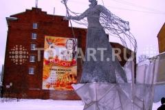 """Новогоднее оформление площади. Светодиодная композиция """"Снежная Королева"""""""