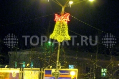 """Уличное новогоднее светодиодное украшение """"Колокольчик""""."""