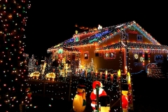 Smith's House with Xmas Lights