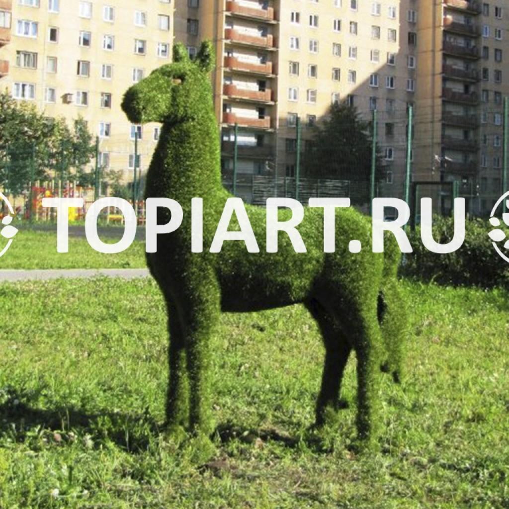 """Зеленая фигура """"Лошадка"""""""