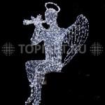 """Светодиодная светящаяся объемная фигура """"Ангел"""" www.topiart.ru"""