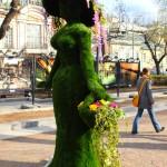 """Городское оформление и благоустройство зеленая фигура """"Цветочница"""""""