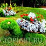 """Топиари вазон """"Черепаха"""" www.topiart.ru"""