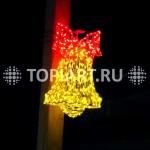 """Уличное новогоднее украшение """"Колокольчик светящийся"""" www.topiart.ru www.topiart.ru"""