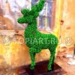 Фигура топиари олень из искусственного самшита www.topiart.ru