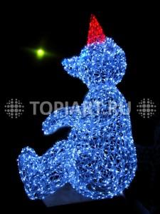 """Новогодняя светящаяся фигура """"Медведь"""". www.topiart.ru"""