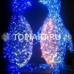 """Светодиодные уличные фигуры """"Пингвины"""" www.topiart.ru www.topiart.ru"""