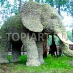 """Топиарная скульптура из мха """"Слон"""""""