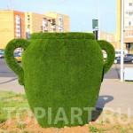 """Топиари из искусственной травы """"Кувшин"""" topiary figure www.topiart.ru"""