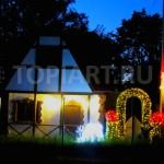 Новогоднее украшение коттеджей и загородных домов
