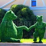 "Топиари ""Медведица с медвежонком"""