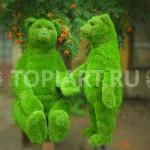"""Топиарные фигуры из искусственного газона """"Медведица с медвежонком"""""""