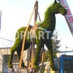 """Топиарная фигура из мха """"Лошадь"""" www.topiart.ru"""