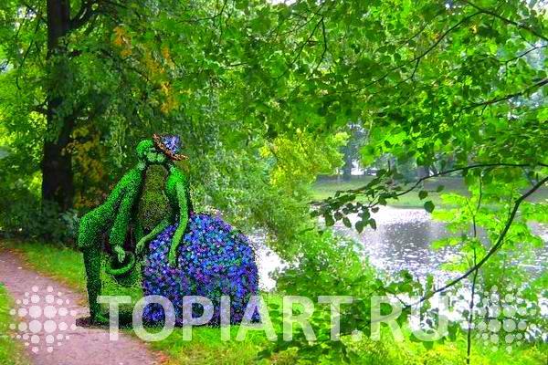 Зеленые фигуры эскиз