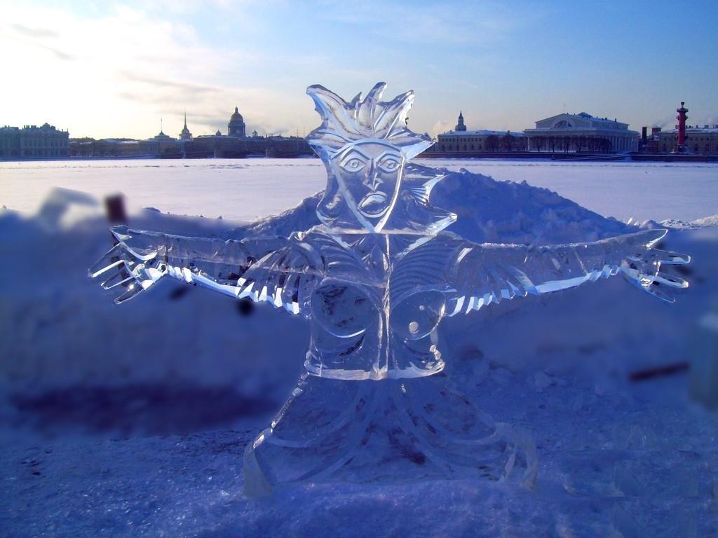Фестиваль ледовой скульптуры Петропавловская крепость СПб