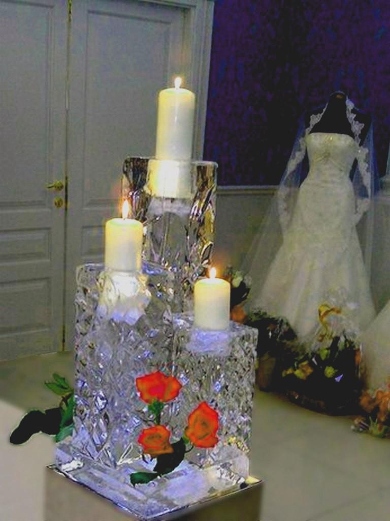 Оформление свадеб, ледяные скульптуры