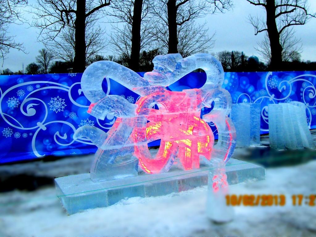 Ледовые городки и скульптура из льда