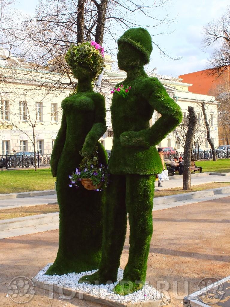 Зеленые фигуры изготовление, доставка и установка