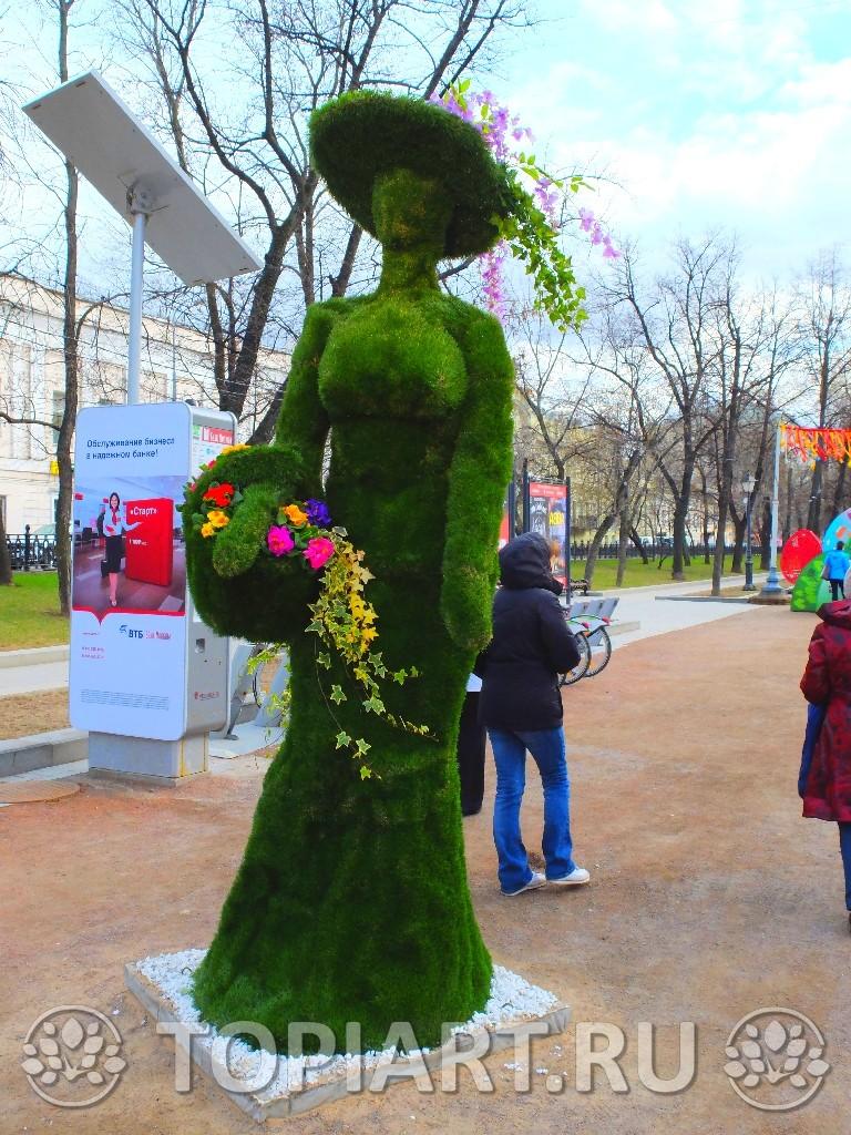 Зеленые фигуры 3D из искусственного газона