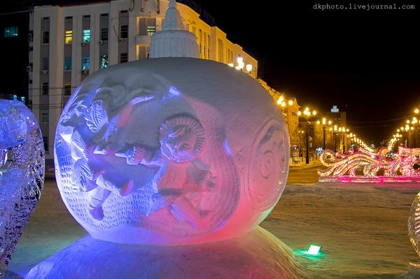 Фестиваль ледовой скульптуры, Дальний Восток, г. Хабаровск 2015г.