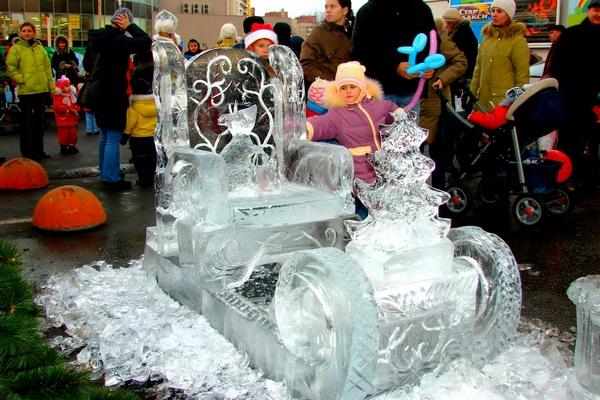 Ледовое оформление торгового центра