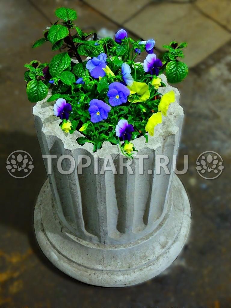 Бетонный вазон в виде античной колонны
