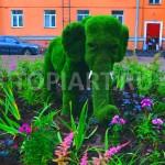 """Топиари """"Мамонтенок"""" из искусственного газона www.topiart.ru"""