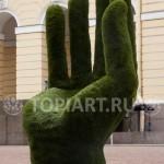 "Топиарная скульптура ""Рука"" в Русском Музее"