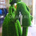 """Топиари """"Дама и кавалер"""" искусственный газон"""