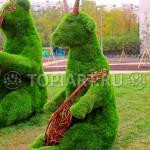 """Садовые фигуры 3D из искусственной травы """"Квартет"""" www.topiart.ru"""