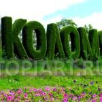 """Топиарные объемные буквы из травы """"Коломяги"""", СПб"""