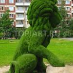 """Топиарная фигура из искусственного газона """"Лев"""""""