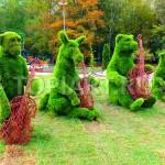 """Зеленые фигуры топиарии из искусственного газона """"Квартет"""""""