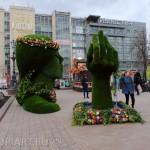 """Топиарная скульптура из искусственного газона """"Весна"""""""