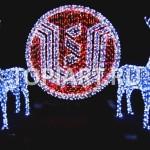 """Объемный светящийся логотип. Световые фигуры """"Олени"""". www.topiart.ru"""