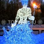 """Светящиеся скульптуры """"Снежный король"""" . www.topiart.ru"""