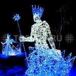 """Светящиеся скульптуры """"Снежный король"""" """"Снежная Королева"""". www.topiart.ru"""