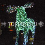 """Топиарная фигура """"Лось"""" с Led подсветкой. www.topiart.ru"""