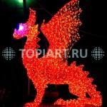 "Светящаяся уличная скульптура ""Дракон"". www.topiat.ru"