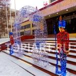 """Световые фигуры уличные новогодние """"Солдаты и Арка"""". www.topiart.ru"""