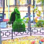 """Зеленые фигуры топиари из искусственного газона """"Влюбленные"""""""